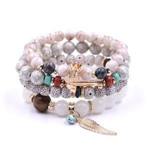 Jewelry - Boho Natural Stone  Bracelet w/Drawstring Pouch